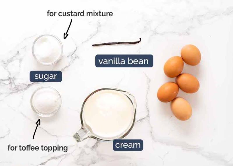 Creme-Brulee-ingredients