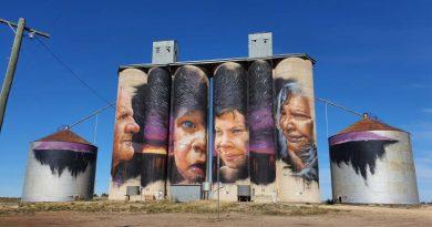 Grain Corp Sheep Hills Silo art front