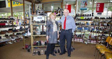 Ian and Rona McLaughlan at McLaughlan Comfort Shoes