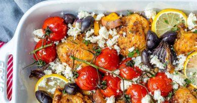 Pan roasted greek chicken